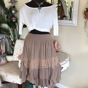 🍂5/$25 🍂Boho Layered Skirt